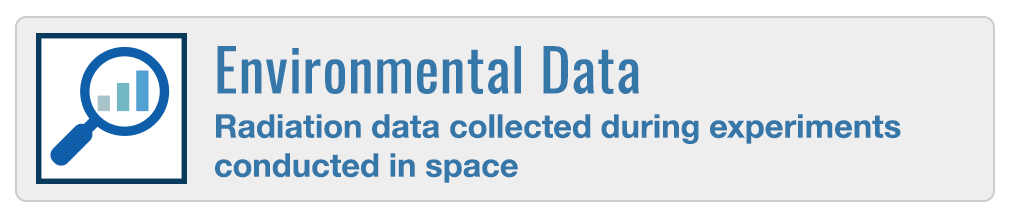 Environmental Data - Radiation data collected during experiments conducted in space