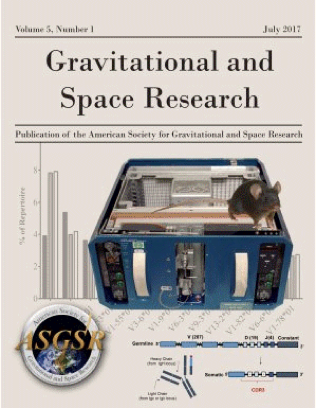 cover of the journal, Gravitational and Space Research